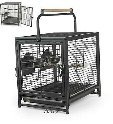 Portable Bird Cages Pet Wire Carrier Perch Feeders Parrot Parakeet Supplies Sale