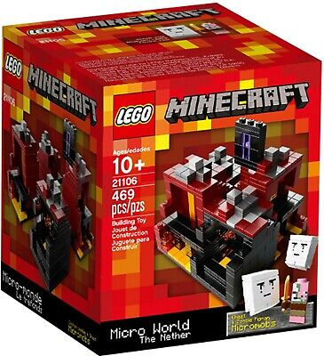 CLEARANCE LEGO Minecraft Micro World The Nether #21106 BNIB Rare 2013 Release - Clearance Lego