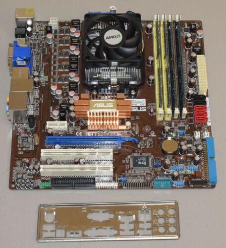 ASUS M3N78-VM Motherboard CPU Combo AMD Phenom II X3 710 2.6Ghz 8GB IO Shield