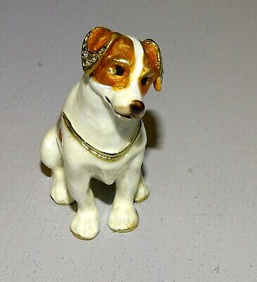 Jack Russell Terrier Dog Trinket Box, pill box, hiding place, pillbox, jewelry