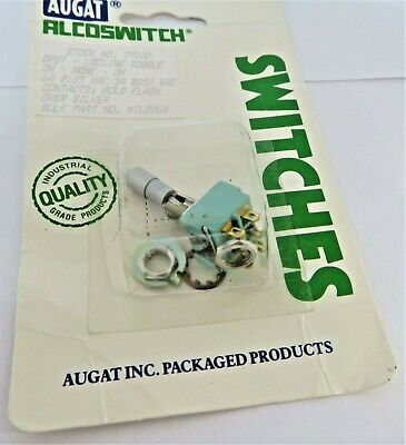 Augat Alcoswitch 77002 Dpdt Locking Toggle Switch 6 Amps Mtl206n