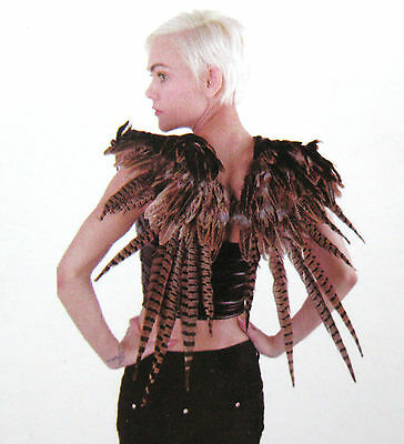 """Feathered Brown Wings 27"""" Feather Sexy Bird Angel Dragon Adult Halloween Costume"""