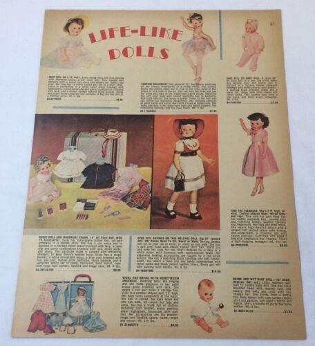 1959 catalog ad page ~ LIFE-LIKE DOLLS