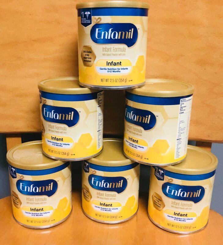 Enfamil Infant Formula Powder 12.5 oz Cans (6 PCK) Exp Free Shipping
