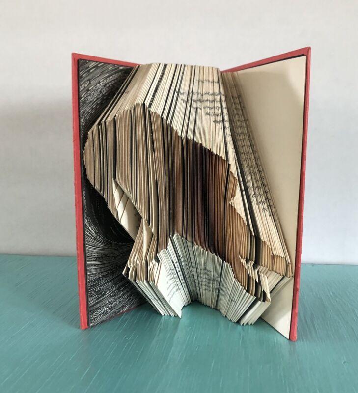Handmade Edgar Allan Poe Raven Halloween Folded Book Art Origami Gift Home Decor