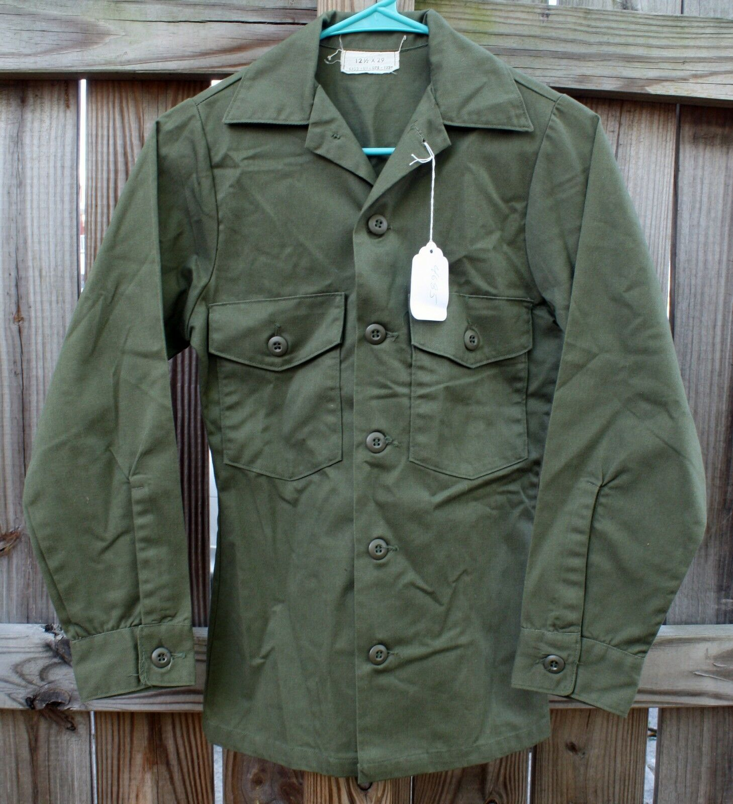 Vintage 1970's US Army Utility Shirt Size 12