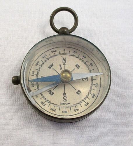 Vintage Compass Brass Case Germany