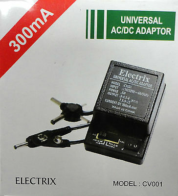 All-inclusive AC DC Adapter Converter 3 4.5 6 7.5 9 12 V Power Charger 300 mA SNAP