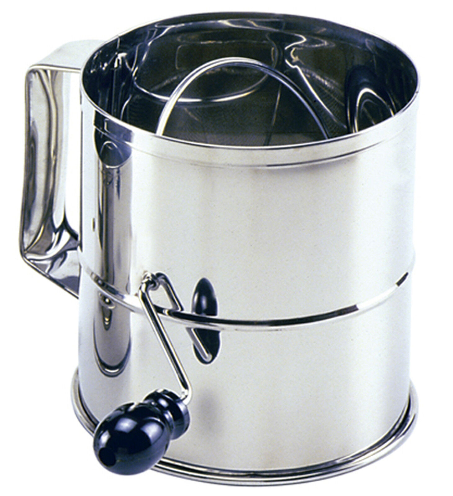 Norpro 146 Professional Rotary Crank Sifter 8 Cup Stainless Steel on sale
