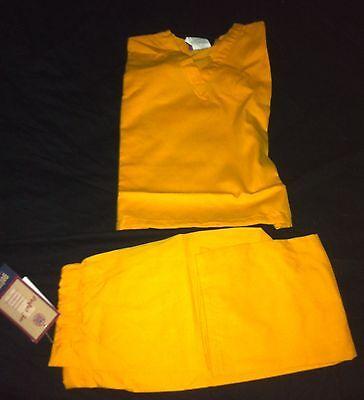 Scrubs CHILD Solid Yellow Scrub Set Pant & Top GelScrubs - Childs, Scrub