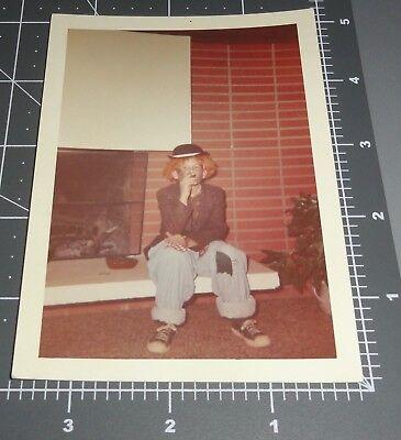 1960's Boy HALLOWEEN Costume HOBO CLOWN Cigar Converse Shoes Vintage Color PHOTO - Converse Costume