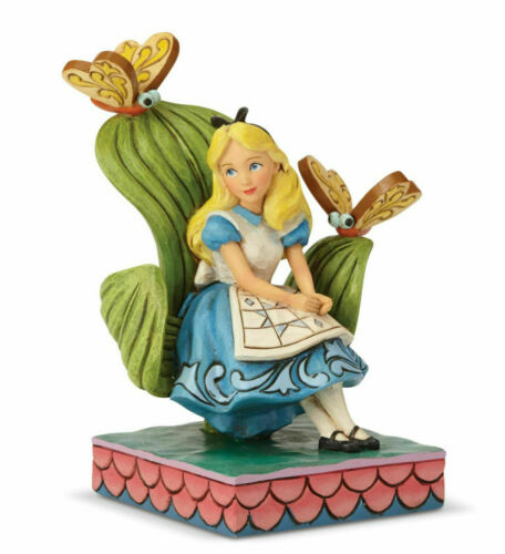 Jim Shore Disney ALICE IN WONDERLAND Figurine 6001272 Curiouser and Curiouser
