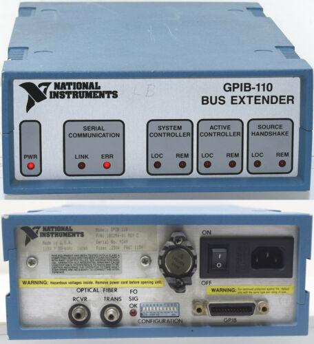 National Instrument 180294-01 Model GPIB-110 High-Performance Fiber Optic Bus