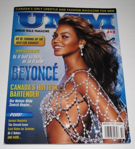 """Rare BEYONCE KNOWLES CARTER """"UMM"""" CANADA MAGAZINE SUMMER 2004 ISSUE Sexy Hot"""