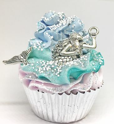 Let's Be Mermaids Fizzy Cupcake Bath Bomb & Handmade Sugar Scrub Topping Cupcake Bath Bombs