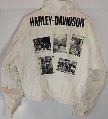 Vtg Harley Davidson By Jamie Sadock Patch Multiple Zipper Rockers Jacket Sz L