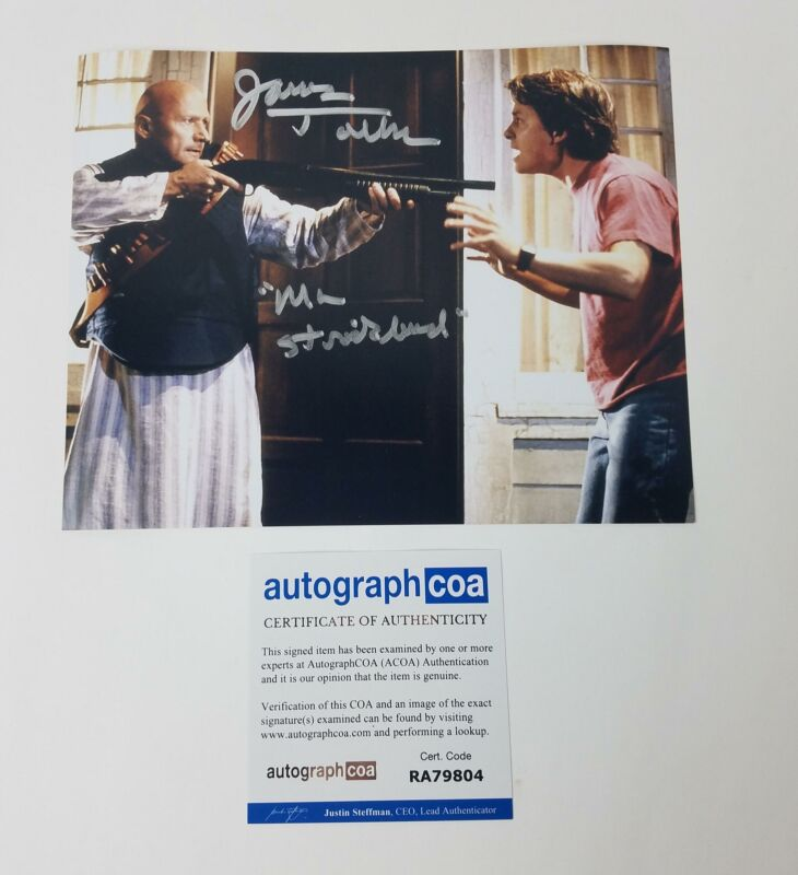 Back To The Future Mr. Strickland Signed 8x10 Photo James Tolkan ACOA