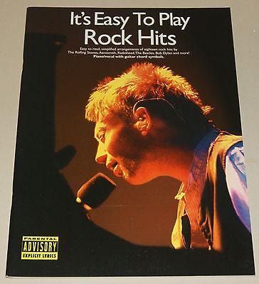 Rock Hits Its Easy To Play Piano Songbook Klavier Notenbuch NEU ()