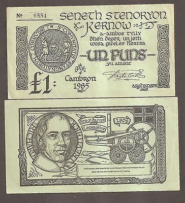 Cornwall : Rare £1 Banknote issued by Cornwall's Parliament, still Exchangeable.