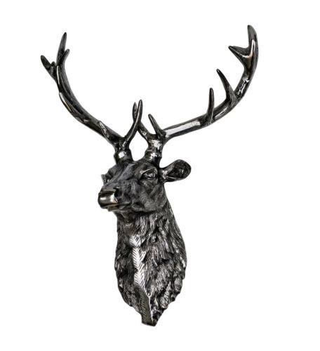Large Wall Mounted Metal Stag Head Deer Antelope fx/]-