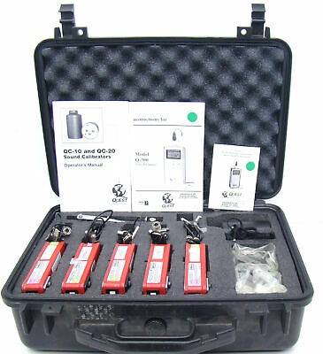 Tested Working Quest Q-300 Noise Dosimeter W Qc-10 Calibratormanualmiccase C