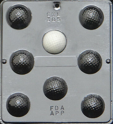 Chocolate Ball Candy (Golf Ball Assembly Chocolate Candy Mold  305)