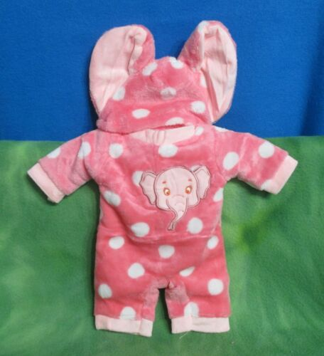 "17"" PLUSH HANDMADE PINK ELEPHANT JUMPER HAT BABY BORN IDEAL MATTEL REBORN DOLLS"