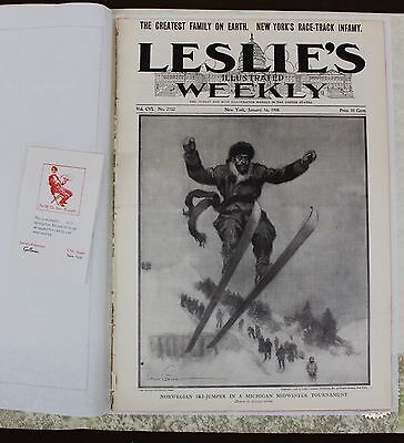 Leslies Illustrated Weekly January 16  1908  Local News  Ads  Sing Sing Prison