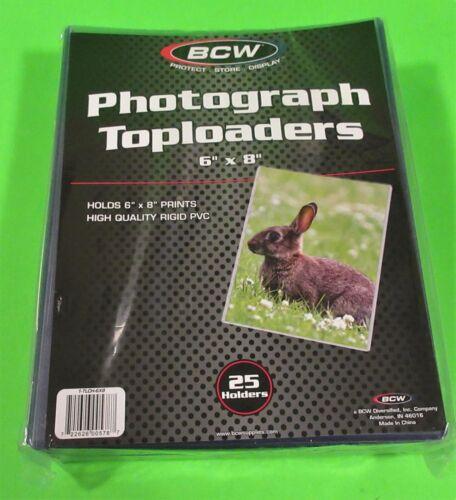 25 6X8 TOPLOADERS, RIGID PVC, FOR PHOTOS, POSTCARDS, PRINTS, ARCHIVAL SAFE