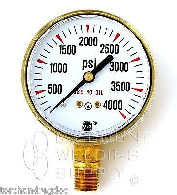 2-12 Usg Ametek Welding Gauge 4000 Lbs. Oxygen Regulator Us-030