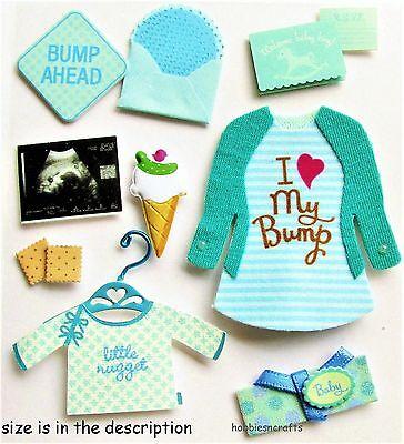 EK SUCCESS JOLEE'S BOUTIQUE 3-D STICKERS - BABIES SCAN - BABY BOY PREGNANCY