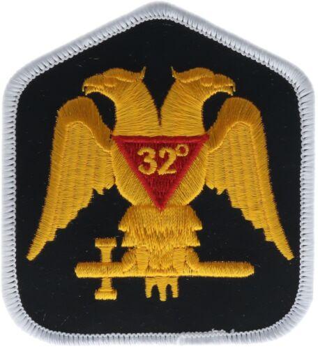 32nd Degree Scottish Rite Masonic Freemason 3 Inch Embroidered Patch PW F3D34D
