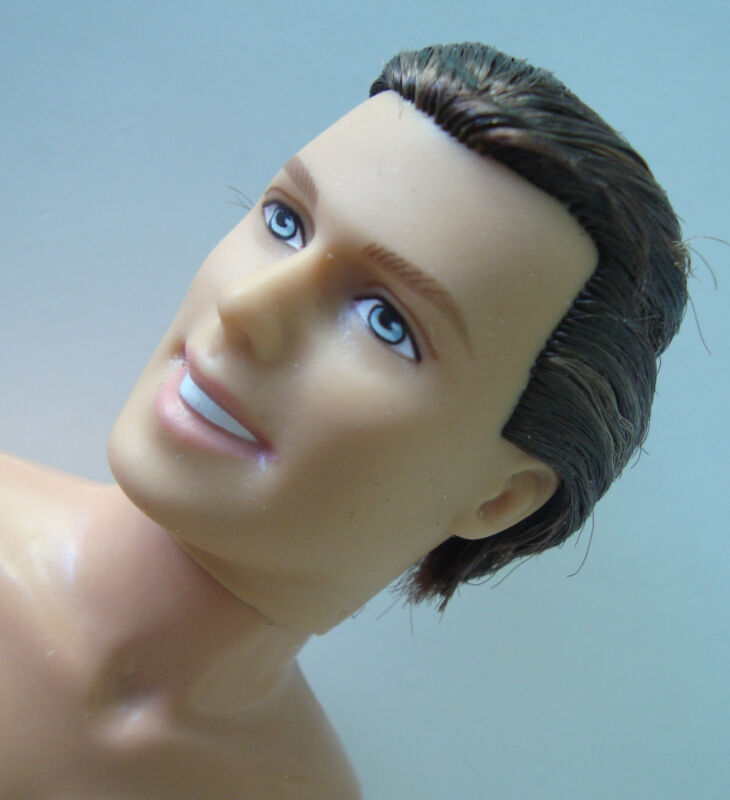 KEN DOLL NUDE Brown Hair, Blue Eyes NEW! OOAK/REPAINT?