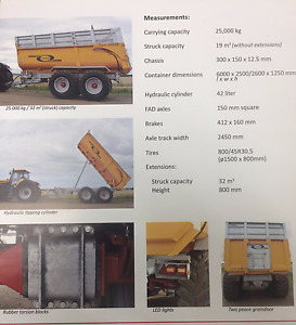 JCB Tractor with Jako Dumpwagon available for all your Hauling!