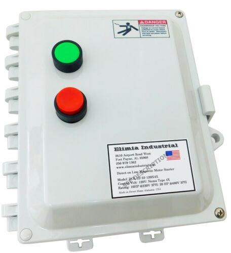 Elimia DOL 6-9-480N4X 5 HP 480V Magnetic Motor Starter Nema Rated 4X UL508A