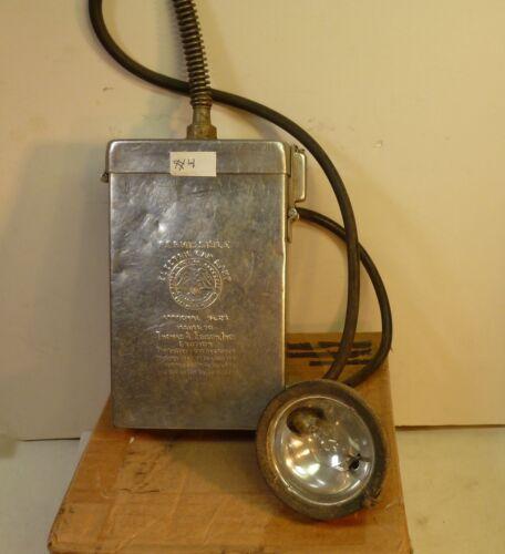 EARLY EDISON MODEL K COAL MINERS LAMP #4