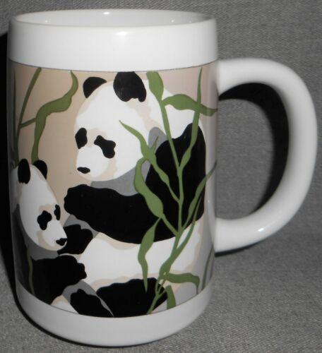 "Otagiri TOM TAYLOR - GIFT OF NATURE - ""PANDA, PANDA"" 14 oz Handled Mug JAPAN"