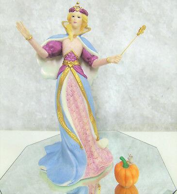 LENOX Legendary Princesses Porcelain Cinderella FAIRY GODMOTHER Wand Pumpkin LE!