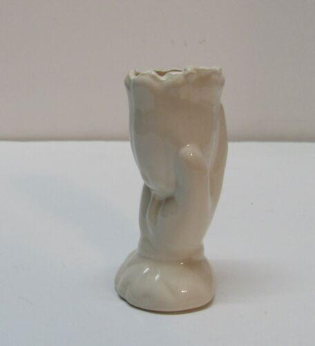 """Stem Vase Small Hand Holding Tulip Ring on Finger Home Decor Vintage 3"""""""