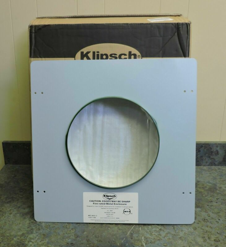 "Klipsch ME-800-C Fire Rated Metal Enclosure for 8"" In-Ceiling Speaker"