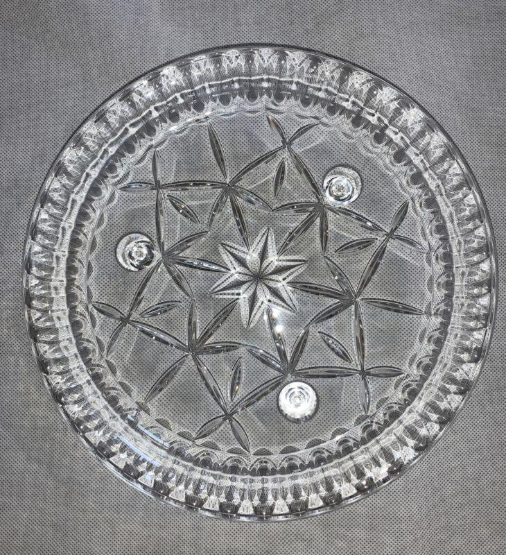 Early American Prescut Glass Anchor Hocking Star of David Ashtray EAPC