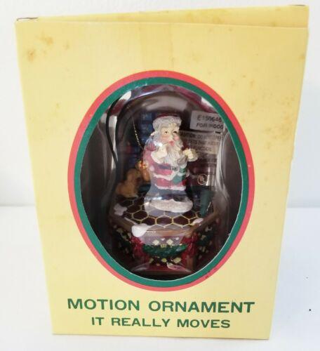 Vintage Eluceo Motion Santa Christmas Ornament