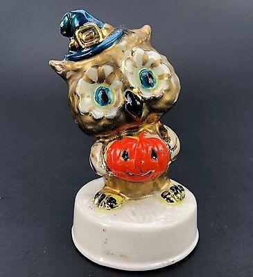 Jack O Lantern JOL Porcelain China Figurine Figure Witch Hat (Halloween Owl)