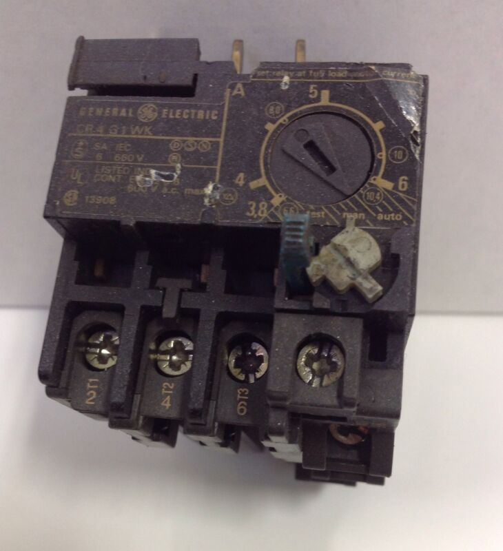 GENERAL ELECTRIC OVERLOAD RELAY  CR4 G1 WK