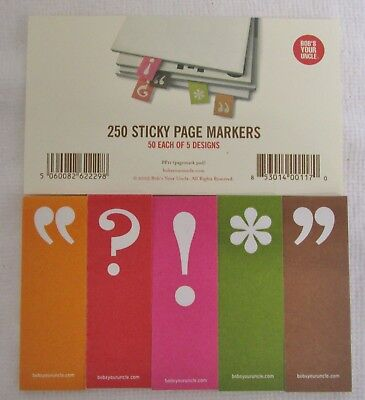 1750 Pc Expressions Sticky Page Markers Bobs Your Uncle 5 Designs
