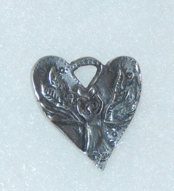 "JES MAHARRY GUARDIAN ANGEL HEART PENDANT CHARM ""SOMEONE TO WATCH OVER ME"" NIB"