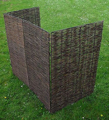 Willow Wheelie Bin or Dustbin Screen / Screening (Double)