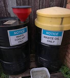 oil & coolant collection drums Hallam Casey Area Preview