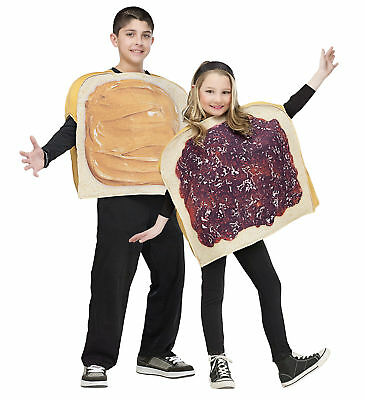 Peanut Butter And Jelly Child Pair Tunic Costume Duo Pair Funny Party - Funny Halloween Costume Duos
