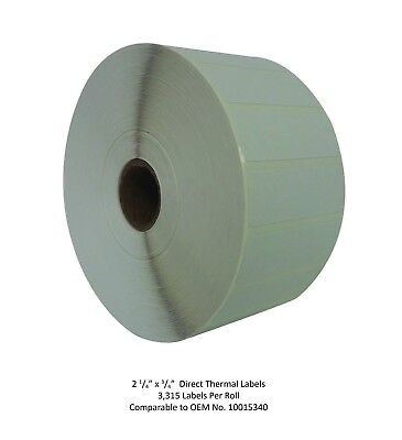 2.25 X 0.75 Direct Thermal Labels - 1 Roll - Zebra Compatible 10015340